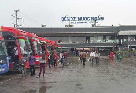 Lộ trình 5 tuyến xe từ Bến xe Nước Ngầm đến Hàm Yên