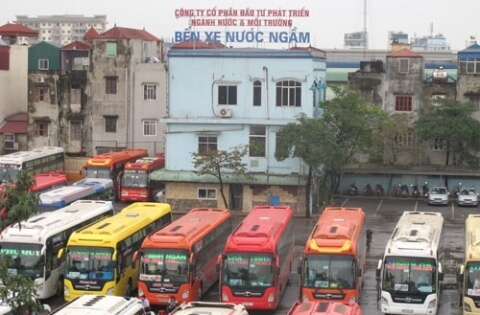 Lộ trình 5 tuyến xe từ Bến xe Nước Ngầm đến Nho Quan