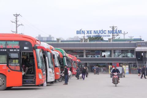 Lộ trình 5 tuyến xe từ Bến xe Nước Ngầm đến Yên Mô